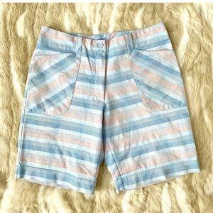 NIKE GOLF Blue Pink Plaid Bermuda Shorts